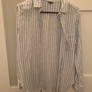 aerie Blue and White Button Up